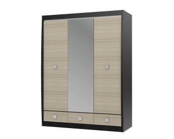 Шкаф 3-х дв. с зеркалом Cseno