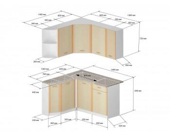 Кухонный гарнитур Бланка левый