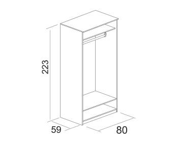 Шкаф 2-х дверный Юлианна