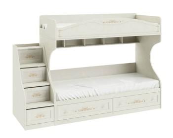 Кровать двухъярусная с приставной лестницей Лючия