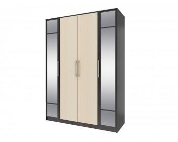 Шкаф 4-х дверный с зеркалом Уют
