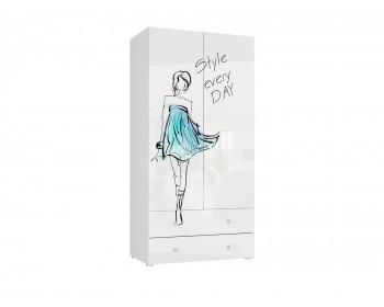Шкаф 2-х дверный с ящиками Модерн-Стиль