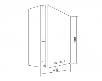 Шкаф навесной Argo 40 см