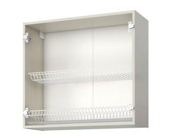 Шкаф-витрина с сушками двухдверный Аура 80 см
