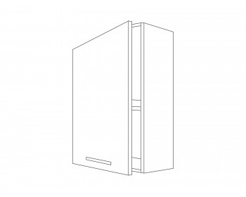 Шкаф навесной Камила тёмная 40 см