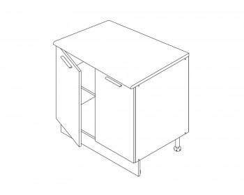 Шкаф напольный Камила тёмная 80 см