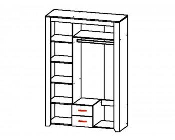 Шкаф 3-х дверный Квадро