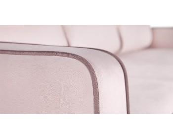 Диван прямой Лоретто Н NEXT 250 прямой Жемчужно-розовый