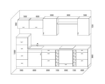 Кухонный гарнитур Микс-8