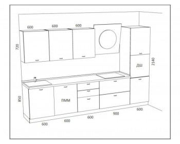 Кухонный гарнитур Альба-2