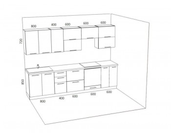 Кухонный гарнитур Стелла-5