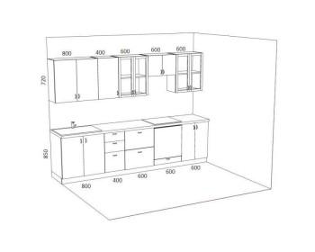 Кухонный гарнитур Мишель-2