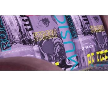 Диван прямой Барон Н (мини) NEXT 149 прямой Фиолетовый-мультиколор