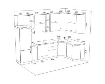 Кухонный гарнитур Стелла-9