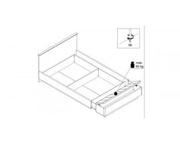 Кровать JAGGER со скамьей