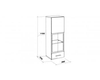 Шкаф-витрина (тип 2) Белла